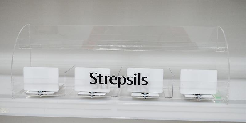 Дисплей Strepsils