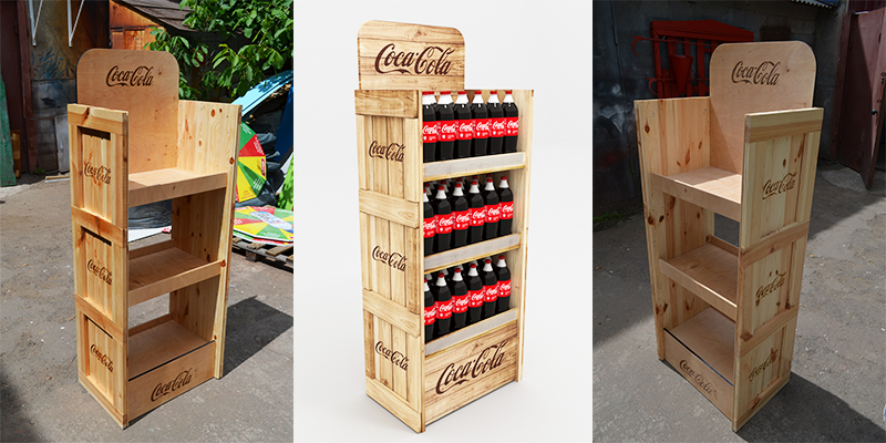 Стойки Coca-cola