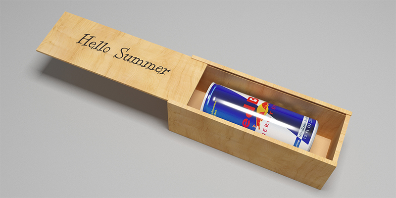 Коробка для Red Bull